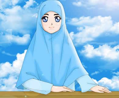 kartun-akhwat-muslimah-jilbab-biru