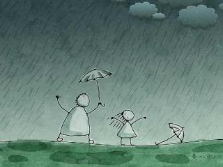 kartun-ibu-anak-hujan-320x240